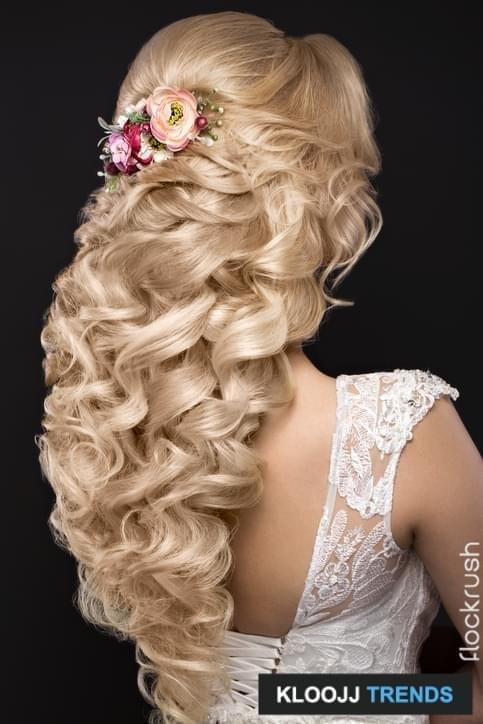 bridal updos for long hair